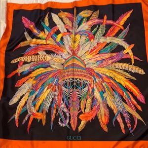 Gucci 100% silk scarf